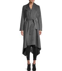 orylag blend asymmetric wrap coat