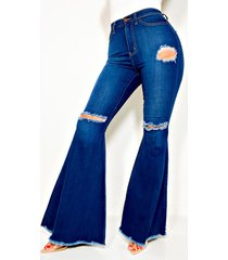 akira can't stop high rise flare jeans