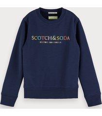 scotch & soda logo artwork sweatshirt