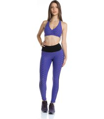 top pinyx arc strappy estampa rosa azul