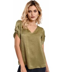 blusa primia lax verde oliva