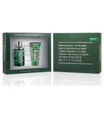 kit benetton colors green edt 100ml + pós barba 75ml masculino 1 unidade único