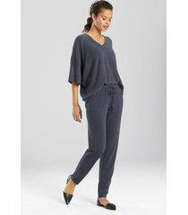 n-vious pants pajamas, women's, grey, size l, n natori