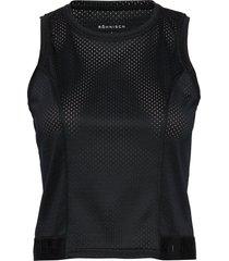 mesh short top t-shirts & tops sleeveless svart röhnisch