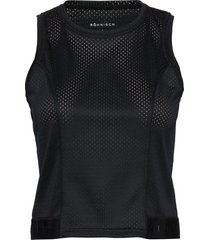 mesh short top t-shirts & tops sleeveless svart röhnisch