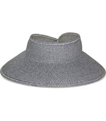 nine west grey braided roll-up packable visor