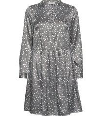 dhilma dress light woven korte jurk multi/patroon denim hunter