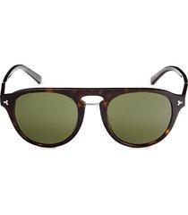 bally women's 52mm round sunglasses - havana green