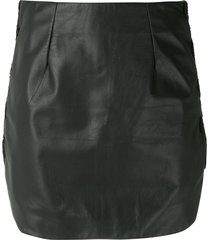 andrea bogosian serralha leather mini skirt - black