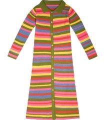 moon stripe knit dress