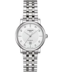 women's tissot t-classic carson diamond bracelet watch, 30mm