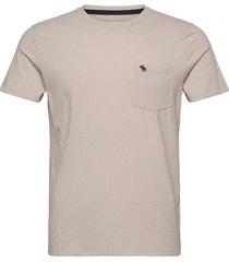 icon crews t-shirts short-sleeved grå abercrombie & fitch