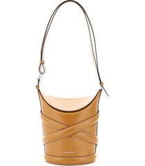 alexander mcqueen the medium curve bucket bag