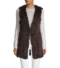 longline rabbit fur vest