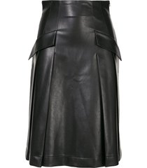 ermanno scervino flap pocket skirt - black