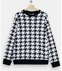 mens black houndstooth sweater
