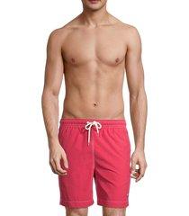 brooks brothers men's montauk swim shorts - bright red - size s