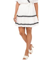 vince camuto crochet stripe crinkle skirt, size xx-small in new ivory at nordstrom