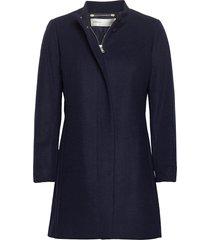 levannaiw crew coat wollen jas lange jas blauw inwear