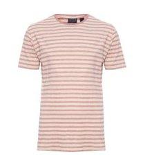 camiseta masculina ft listra textura - marrom