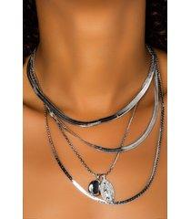 akira reider layered necklace