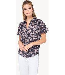 lilla p ruffle sleeve blouse
