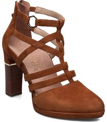 woms slip-on shoes heels pumps classic brun tamaris heart & sole