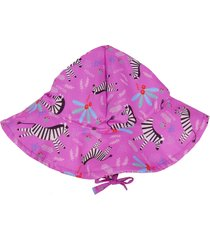 chapéu ecokids place zebra menina rosa - tricae