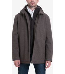 london fog men's wool-blend layered car coat, created for macy's