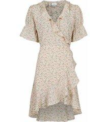 coral flower dress