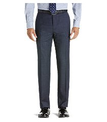 1905 collection tailored fit flat front pre-hemmed houndstooth dress pants - big & tall clearance by jos. a. bank