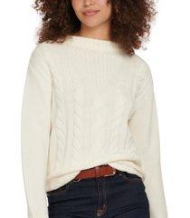 barbour foxton cotton knit sweater