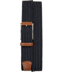men's torino woven cotton belt, size 38 - navy