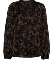sequin amira shirt blus långärmad svart bruuns bazaar