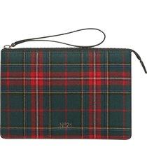 n°21 designer handbags, check clutch