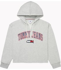 tommy hilfiger adaptive women's logo hoodie with extended opening