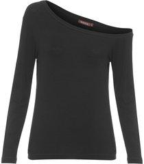 blusa feminina gabriela ombro único - preto