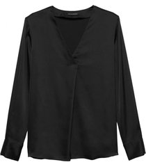 blusa leat vee top negro banana republic
