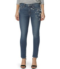 exclusive jacqueline straight pearl jeans