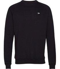 pine sweatshirt gebreide trui met ronde kraag zwart forét