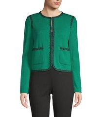 santana contrast-trimmed jacket