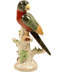escultura decorativa de porcelana pássaro broome