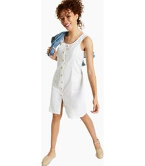 style & co petite cotton denim dress, created for macy's