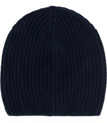 altea ribbed knit hat - blue