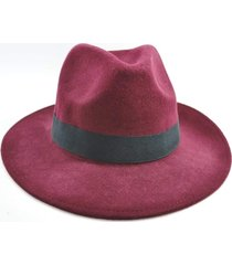 chapéu chapelaria vintage fedora vinho