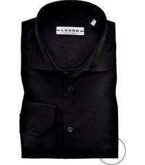 mouwlengte 7 overhemd ledub zwart modern fit
