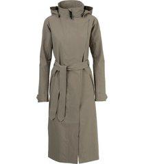 agu regenjas women urban outdoor trench coat long pistachio green-xxl