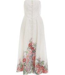bellitude strapless floral dress
