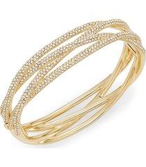 adriana orsini women's woven pavé bangle bracelet