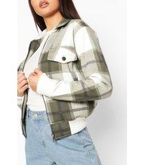 flannel bomber jacket, khaki